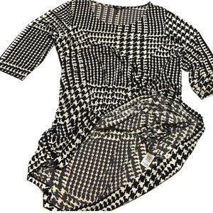 Daisy Fuentes A-line dress size 1X black/cream